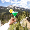 Emerald Ice Martini.<br /> <br /> Midori, Blue Curacao, Malibu coconut flavoured Rum, blended with pineapple juice.