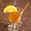 Larkspur Cider<br /> <br /> Calvados, and white rum mixed with hot apple cider, some cinnamon and orange with cloves