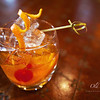 Old Fashion, <br /> Muddle Orange and a maraschino cherry, add Rye, sugar, biters over ice, (soda optional)