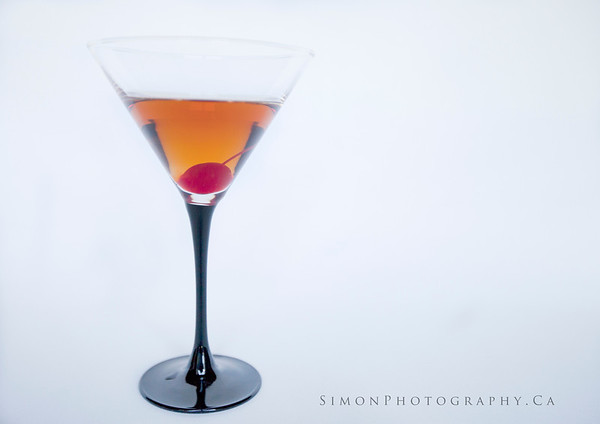 The Classic Manhattan, <br /> 2 oz rye or bourban, dash of Angostura bitters, dash of Sweet Vermouth, stir, serve in a chilled martini glass, and garnish with a Marachino cherry.