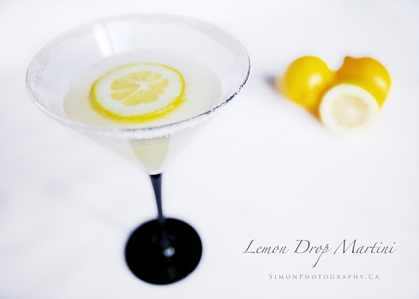 Lemon Drop Martini, <br /> <br /> Limoncello, Cointreau, and Absolute Citron, shaken on ice with fresh Lemon.