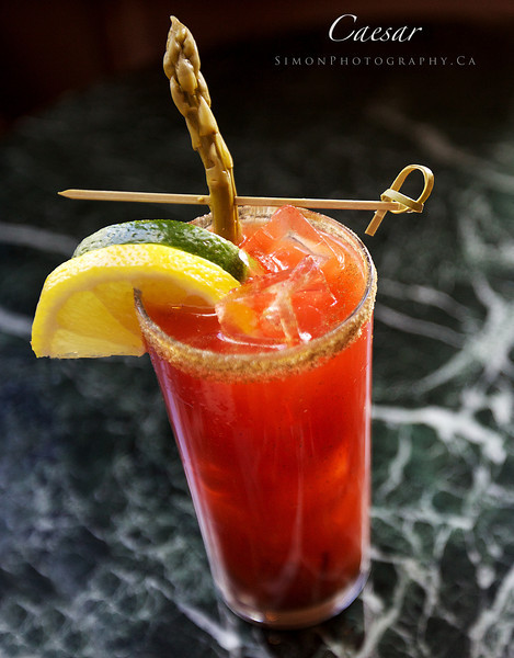 Caesar Cocktail, Traditional - Tabasco, Worcestershire sauce, vodka, clamato, and garnish as you choose.