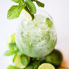 The Grand Mojito - Wray and Nephew overproof rum, half a fresh lime, lots of mint, sugar and soda water.