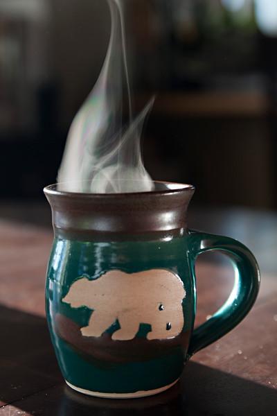 Hot Coffee in a Bear Mug