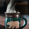 Hot Coffee in a Bear Mug