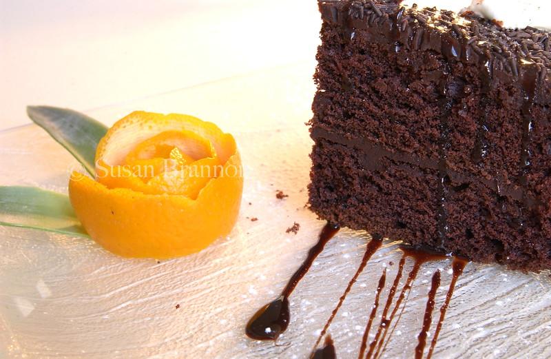 umm chocolate cake with a twist of orange!