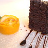 umm chocolate cake with a twist of orange!