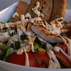 Chicken salad with sauce