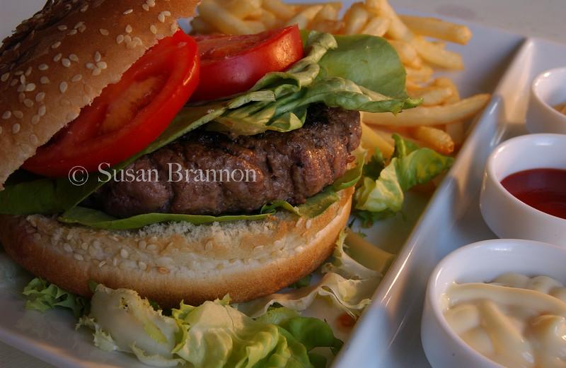 the juicy part of a hamburger