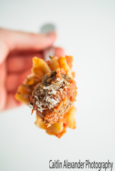 Pasta with mini meatball