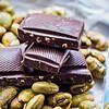 Dark chocolate edamame crunch bar