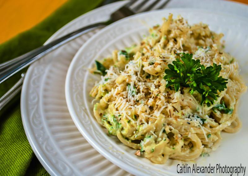 Creamy cilantro pasta