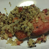 Quick-cured Sake Salmon with Quinoa.
