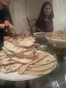 Naan and chapati.