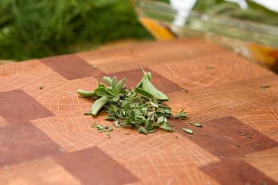 Chopped herbs.
