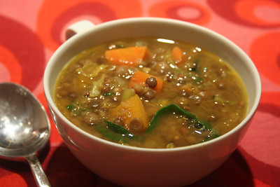 3-Lentil 8-Vegetable Curried Soup