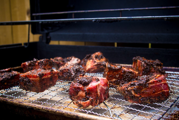 Roasting goat for this this birria recipe from Riding Shotgun LA's Roy Choi is easy to make. Traditionally with goat it can also be made with beef.