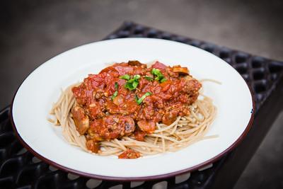 home-made spaghetti bolognese