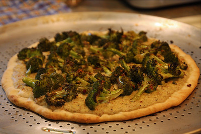 Vegan Pizza created by my daughter Lindsay, it was so darn good!!