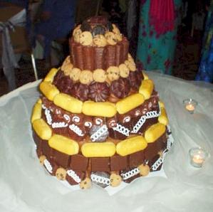 snack wedding cake