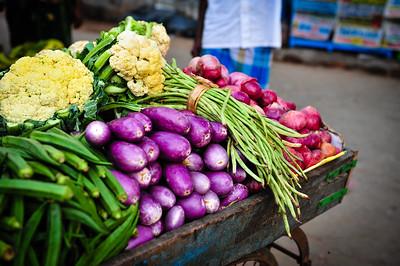 Fresh market stand, India