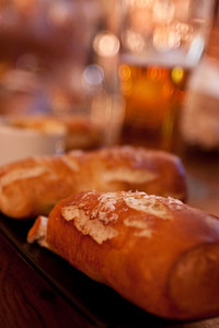 Soft Pretzels and Beer at Triumph Brewery in Philly