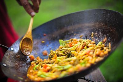 Wok cooking
