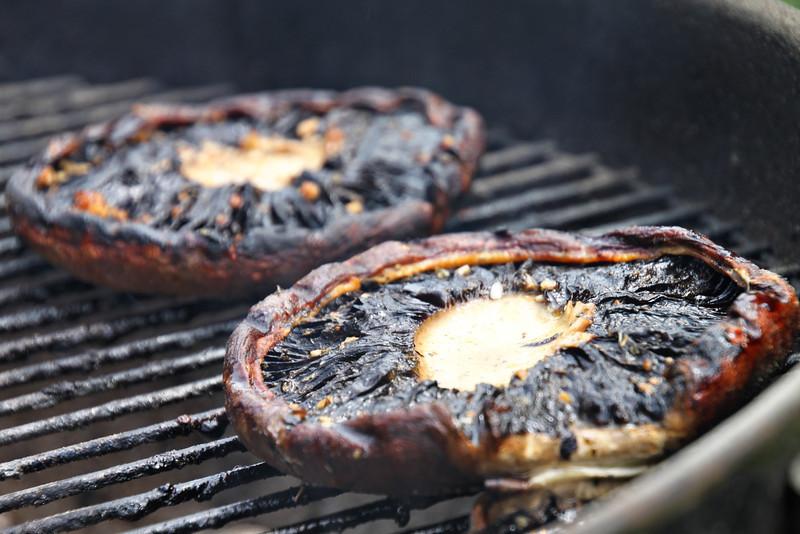 portabela mushrooms on the grill