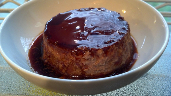 Mexican Chocolate Flan with Kahlua.