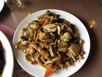 Plate of mixed mushrooms- Family Reunion Restaurant