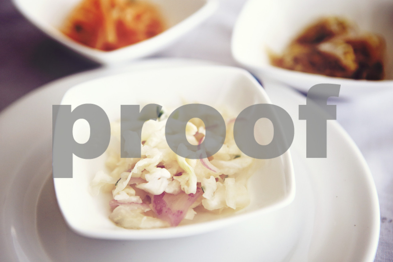 Coleslaw in white background with soft tone
