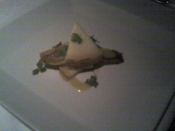 """Tomme du Berger"" - roasted Belgian endive, plumped Sultana vinaigrette and clove-scented shortbread"