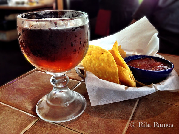 Chips, Salsa and a Beer (On the Border, Portland)