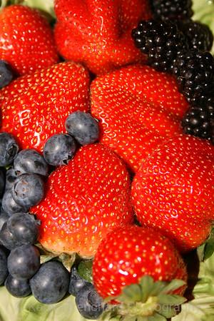 Blueberries,strawberries,blackberries