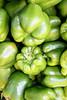 Green bell peppers, fresh vert.