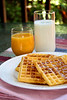 Waffles for breakfast verical