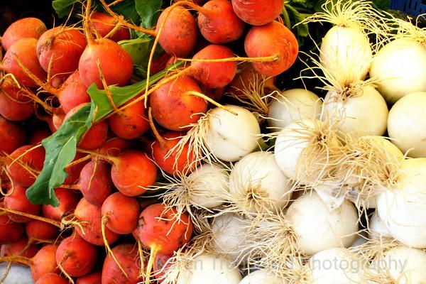 Turnips and onions