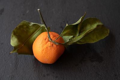 Organic tangerine with leaf