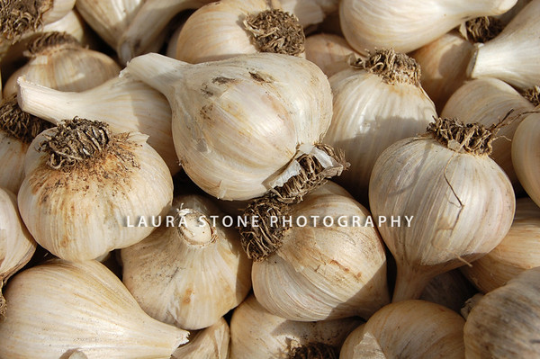 Garlic for sale at a Farmers Market