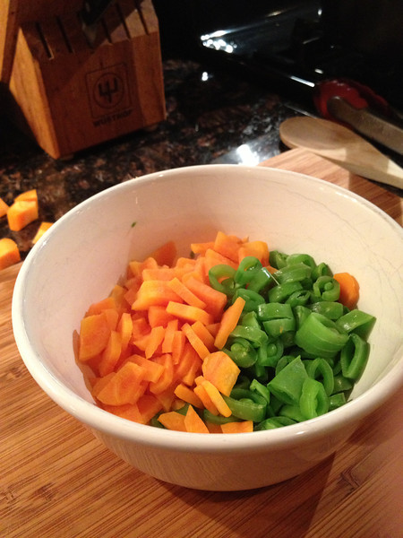 Microwave these for 2 minutes- they look nicer than boiling them & it's a lot faster.