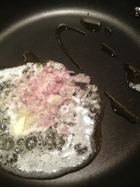 Sautee with quarter stick of butter & dash of olive oil.