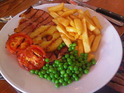 Gammon Steak - Served in Amberwood in Chirstchurch 14/07/11  (Photo By S Thew)