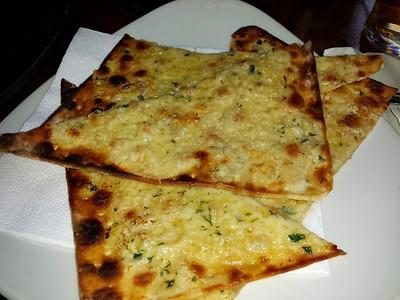 "Garlic Flatbread. £2.95. Served in the ""Sawyers Arms"" in Paddington  19/05/15"