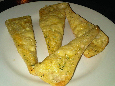 """Garlic Bread with Cheese. Served in """"Wetherspoons""""  21/11/13"""