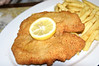 Authentic schnitzel with frites.
