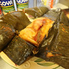 Tamale wrapped in banana leaves at Girasol Central American Food in Chelmsford. (SUN/Julia Malakie)