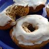 "<h1>Baked Maple Donuts</h1> These tasty things are a breeze to mix up, and so delic !   I often make them in the morning before going to work, and bring them along for my co-workers (so I don't eat the whole dozen that the recipe makes myself!!)  I made half the batch gluten free by substituting a <u><b><a href=""http://www.amazon.com/Bobs-Red-Mill-Gluten-Free-All-Purpose/dp/B000KEPBCS"">gluten free flour mix</a></b></u> for the pastry flour called for in the recipe.  When I compared the two versions side by side (gluten and gf) I could not tell A BIT of difference, either in texture or taste!!  <u><b><a href=""http://veganfeastkitchen.blogspot.com/2008/10/vegan-mofo-vegan-baked-doughnuts-two.html"">Recipe here</a></b></u> (recipe #1)."