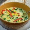 "<h1>Thai Coconut Corn Soup</h1> I must admit it was the PICTURE of this soup in Nava Atlas' <i><a href=""http://www.amazon.com/Vegan-Express-Nava-Atlas/dp/076792617X/ref=ntt_at_ep_dpi_4"">Vegan Express</a></i> cookbook that got me to make this for the first time.  The NAME of the soup never would have.   I never thought I liked coconut.   But rather, what I'm finding is that I don't like <b><i>the grated stuff</i></b> that gets put on cakes and cookies and such.  But I'm trying more and more recipes that use coconut MILK, and I'm finding I like that just fine.   My first recipe that I tried that used coconut milk was something I figured would be a sure winner:  <a href=""http://www.flickr.com/photos/nc_hiker/3866189016"">homemade ice cream</a>, and I couldn't even pick up the coconut flavor there.  So I got brave and tried this soup and all I can say is YUMMMMMM!!!!  As with all the recipes in this cookbook, the soup is very quick to fix (15 minutes or so).  It is quite low fat, since the recipe calls for Light Coconut Milk, which only has 4 grams of fat per can.  I didn't even use the tablespoon of olive oil that the recipe called for sauteing the veggies in; rather I sauteed them in a bit of broth instead.   Serve with crusty bread or for gluten free folks, a <b><a href=""http://www.brendajwiley.com/chickpea_flatbread.html""></b>gluten free flat bread</a>, and you've got a fabulous lunch or light supper!!  Recipe <b><a href=""http://www.vegan.com/recipes/vegancom-top-10-recipes-of-2008/nearly-instant-thai-coconut-corn-soup-vegancom-top-10-recipe-2008/"">here</a></b>."