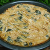 "<h1>Spinach Noodle Pie</h1> From Robin Robertson's <b><a href=""http://www.amazon.com/gp/product/0470085029/ref=as_li_tf_tl?ie=UTF8&tag=mayoowbr-20&linkCode=as2&camp=217153&creative=399353&creativeASIN=0470085029"">1,000 Vegan Recipes</a></b>.  A creamy, vegan fettucine alfredo type of dish.  The sauce is made from tahini, garlic, miso, and lemon juice.  Mix with baby spinach and pasta, and then bake.  Definitely a recipe I'll be making again.  Easily made gluten free by using GF pasta (I used <b><a href=""http://www.quinoa.net/145/163.html"">this brand of GF pasta</a></b>)."