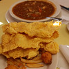 Catfish and gumbo, Middendorf's, Manchac, LA<br /> 2009 (to alma 1/25/11)
